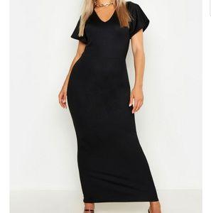 Dresses - Stretch black maxi